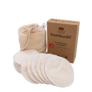 12 Abschminkpads waschbar aus Bambus-Viskose  - bambudō