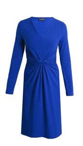 Langarm Kleid mit V-Ausschnitt und Taillenverschlingung - bill, bill & bill