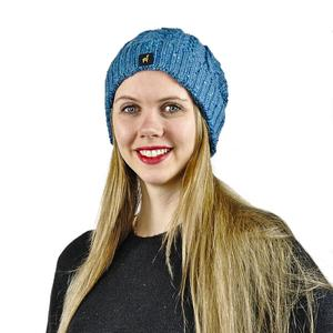 Damen Alpakamütze Marie One Size mit Zopfmuster  - AlpacaOne