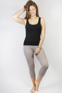 Bio Capri Leggings, 3/4 Leggings Punkte - Frija Omina