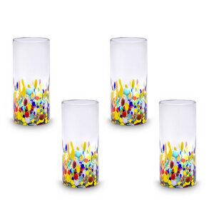 Gläser 4er Set Konfetti extra groß - 17 cm - Mitienda Shop