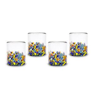 Gläser 4er Set Konfetti | 10 cm - Mitienda Shop