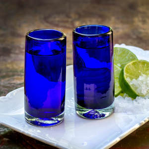 Schnapsglas 2er Set blau | 9 cm - Mitienda Shop