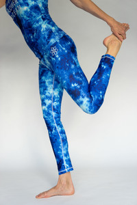Divine Flower Ocean: Sports Legging Lilaia - Divine Flower