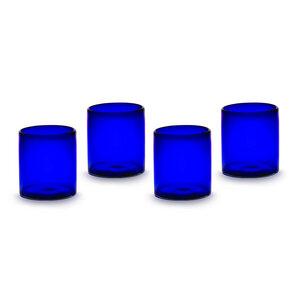 Gläser 4er Set blau | 10 cm - Mitienda Shop