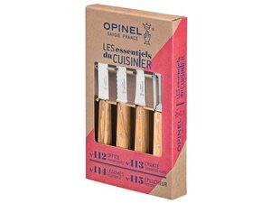 Opinel Küchenmesser-Set, 4-teilig Olivenholz - Opinel