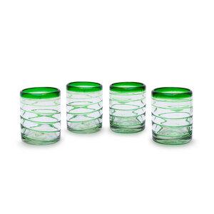Gläser 4er Set Spirale grün | 10 cm  - Mitienda Shop