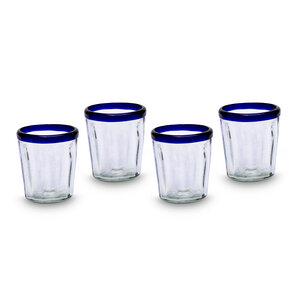 Gläser 4er Set konisch blau | Universalglas - 10 cm - Mitienda Shop