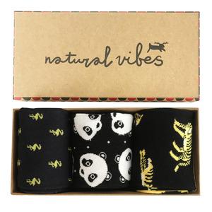 Geschenkboxen Bio GOTS | Herren Damen | Panda | Flamingo | Tiger  - Natural Vibes