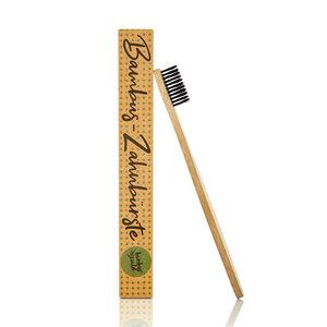 1x Zahnbürste aus Bambus | für weisse Zähne - vegan, 100% nachhaltig - Bambuswald