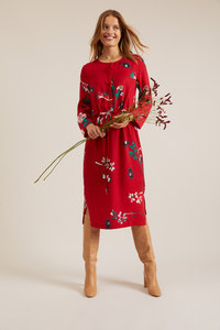 MIDIKLEID Print Chinese Flower aus Tencel Lyocell - LANIUS