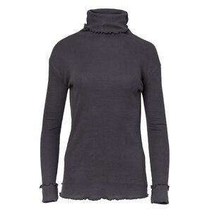 Ripp Rollkragenshirt aus Bio-Baumwolle - Ripp Rollkragenshirt GOTS - dunkelgrau - People Wear Organic