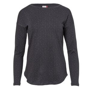 Langarmshirt aus Bio-Baumwolle - Langarmshirt GOTS - dunkelgrau/geringelt - People Wear Organic