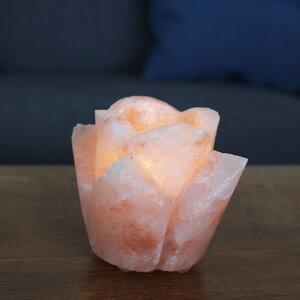 Teelichthalter aus Salz - Rose - Mitienda Shop