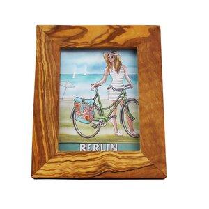 Bilderrahmen aus Olivenholz 11,5cm x 8,5cm Fotorahmen - Mitienda Shop