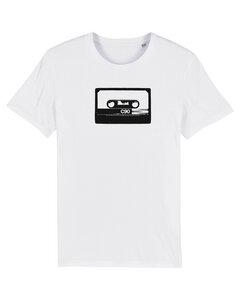 White C90 Kassette UNISEX T-Shirt Biobaumwolle & Fair Wear  - ilovemixtapes