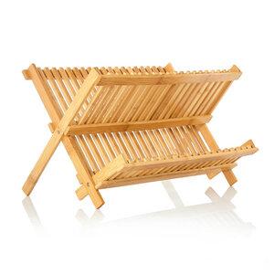 Klappbares Abtropfgestell für Geschirr 100% Bambus  - Bambuswald