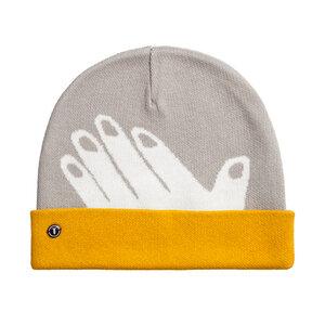 Mütze Hand Grau Bio Fair - THOKKTHOKK