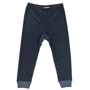 Leggings Wolle-Seide dunkelblau mit Bio-Wolle - People Wear Organic