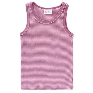 Unterhemd beere geringelt aus Bio-Baumwolle - People Wear Organic