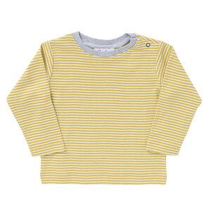 Langarmshirt gelb geringelt aus Bio-Baumwolle - People Wear Organic
