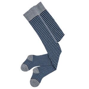 Babystrumpfhose dunkelblau-blau gestreift aus Bio-Baumwolle - People Wear Organic