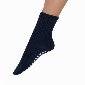 Kinder Grobstrick Stopper Socke - hirsch natur