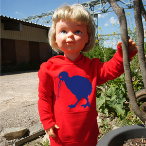 'Kiwi' Kinder Hoody FAIR WEAR ORGANIC - shop handgedruckt