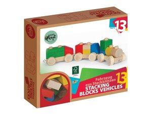 Holzbaukasten Züge 13teilig - Varis Toys