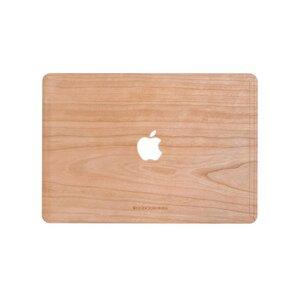 EcoSkin MacBook Cover aus echtem Holz mit Apfel Logo - Woodcessories