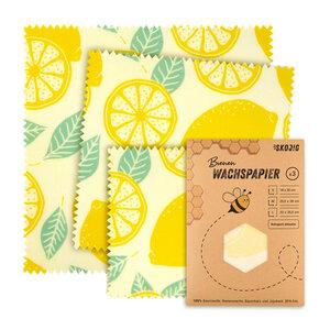 3er Pack Bienenwachstücher Wachspapier Bienenwachstuch - Skojig