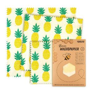 3er Pack Wachspapier | Bienenwachstücher für Lebensmittel - Skojig