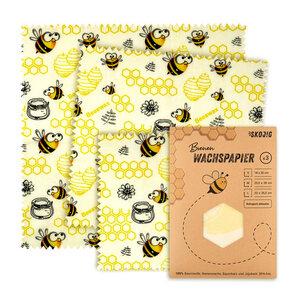Bienenwachstücher Wachspapier Bienenwachstuch Lebensmittel  - Skojig