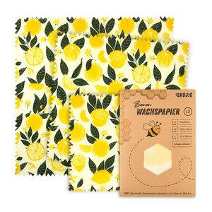 Food Wrap Tücher in drei Größen aus Naturmaterialien - Wachspapier - Skojig