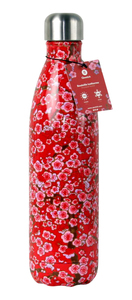 Isolierte Trinkflasche 500 ml - red flowers - Qwetch