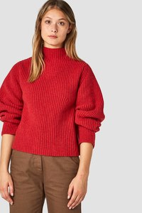 Kings of Indigo - Hisa Strickpullover rot aus recycelter Wolle  - Kings Of Indigo