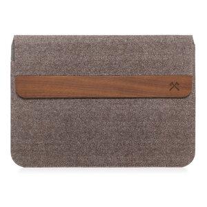 Macbook/Laptop Tasche EcoPouch aus Walnuss Holz und Baumwolle - Woodcessories