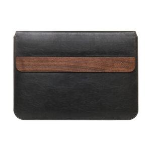 EcoPouch -  Macbook / Notebook Tasche mit Walnuss Holz und Baumwolle - Woodcessories