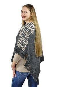 Poncho Sandy 100% Alpaka stylisch modern und kuschelig weich One Size - AlpacaOne