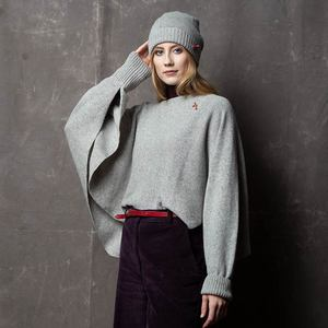 Two-in-one Pulli-Poncho Schal ANNA - meinfrollein