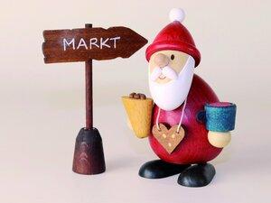 Weihnachtsmann Weihnachtsmarktbummler- aus dem Erzgebirge - Ullrich Neuhausen
