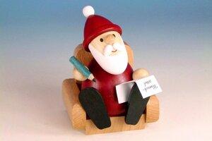 Weihnachtsmann im Sessel - aus dem Erzgebirge - Ullrich Neuhausen