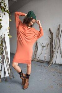 Tunika Willow (Schwarz und Orange) - KOKOworld
