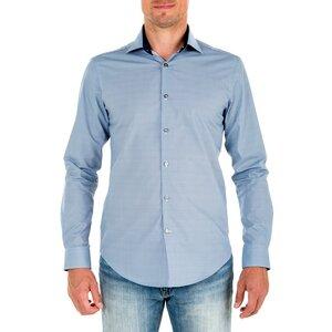 Nachhaltige Langarm Herren Hemd  Serious Mystic Slim Fit 100% Bio - SKOT Fashion