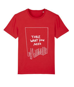 """Unisex Shirt """"take what you need"""" - colors - DENK.MAL Clothing"""