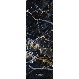 All-In-One Reise Yogamatte Black Marble 1,0mm - FITTASTIC