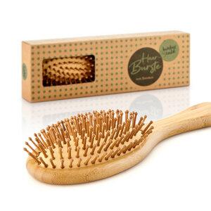 Haarbürste 100% Bambus - antistatische Naturborsten von Bambuswald - Bambuswald