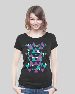 """Low Cut Shirt Women """"Triangle"""" - SILBERFISCHER"""