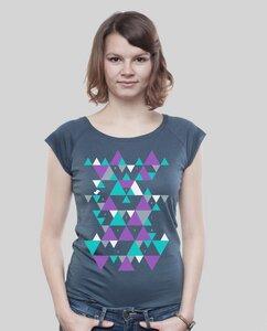 """Bamboo Raglan Shirt Women """"Triangle"""" - SILBERFISCHER"""