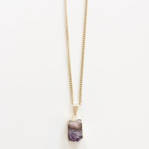 Arwen - vergoldete Amethyst Halskette - Crystal and Sage